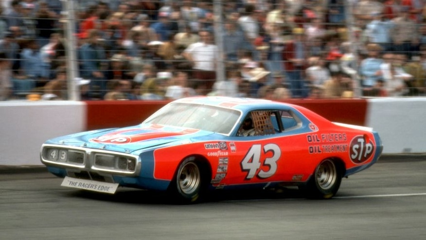 HAMPTON, GA - MARCH 21: Richard Petty drives during the 1976 Atlanta 500 on March 21, 1976, at Atlanta Motor Speedway near Hampton, Georgia. (Photo by Bob Harmeyer/Archive Photos/Getty Images)