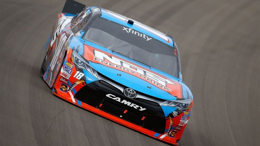 LAS VEGAS, NV - MARCH 05: Kyle Busch, driver of the #18 NOS Energy Drink Toyota, drives during the NASCAR Xfinity Series Boyd Gaming 300 at Las Vegas Motor Speedway on March 5, 2016 in Las Vegas, Nevada. (Photo by Todd Warshaw/Getty Images)