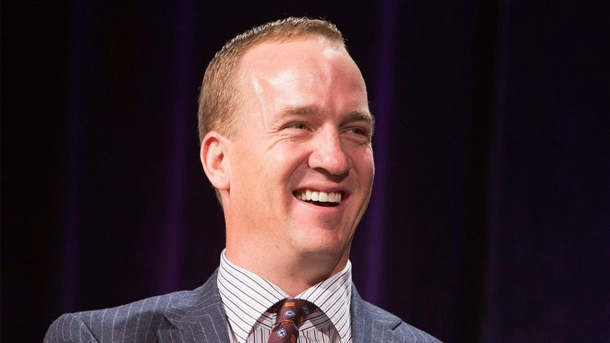 PHOENIX, AZ - JANUARY 30: Peyton Manning attends the SuperBowl Breakfast where he received the Bart Starr award at JW Marriott Desert Ridge Resort & Spa on January 30, 2015 in Phoenix, Arizona. (Photo by Jerritt Clark/Getty Images for Super Service Challenge)
