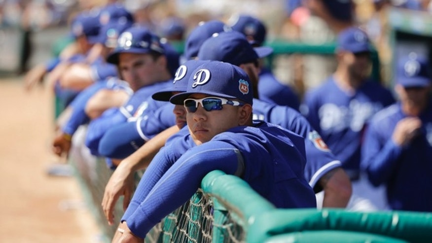 Los Angeles Dodgers starting pitcher Julio Urias on Monday, March 14, 2016.