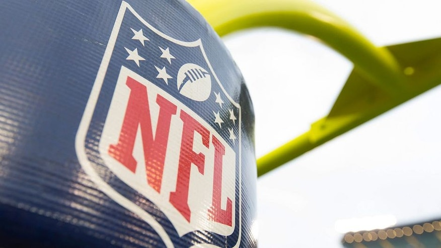 """<p style=""""font-family: tahoma, arial, helvetica, sans-serif; font-size: 12px;"""">Aug 29, 2015; Green Bay, WI, USA; The NFL logo on the goal posts prior to the game between the Philadelphia Eagles and Green Bay Packers at Lambeau Field. Philadelphia won 39-26. Mandatory Credit: Jeff Hanisch-USA TODAY Sports</p>"""