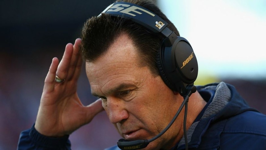 <p>during Super Bowl 50 at Levi's Stadium on February 7, 2016 in Santa Clara, California.,SANTA CLARA, CA - FEBRUARY 07: Head coach Gary Kubiak of the Denver Broncos reacts against the Carolina Panthers during Super Bowl 50 at Levi's Stadium on February 7, 2016 in Santa Clara, California. (Photo by Ronald Martinez/Getty Images)</p>