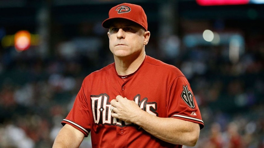 PHOENIX, AZ - AUGUST 12: Manager Chip Hale #3 of the Arizona Diamondbacks during the MLB game against the Philadelphia Phillies at Chase Field on August 12, 2015 in Phoenix, Arizona. The Phillies defeated the Diamondbacks 7-6. (Photo by Christian Petersen/Getty Images)