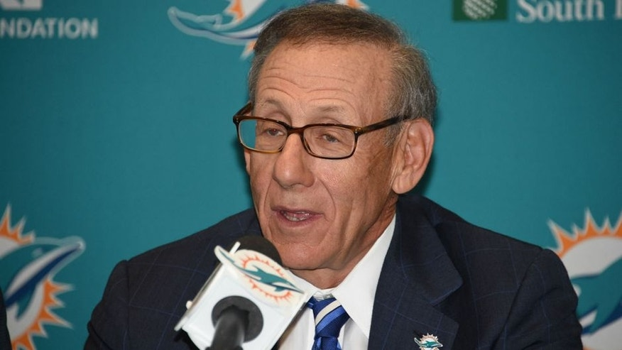 DAVIE, FL - MARCH 11: Miami Dolphins owner Stephen M. Ross at a news conference introducing Ndamukong Suh on Wednesday, March 11, 2015 in Davie, Florida. (Photo by Ron Elkman/Sports Imagery/Getty Images)