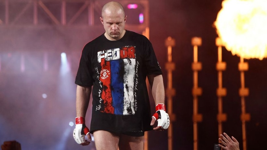 EAST RUTHERFORD, NJ - FEBRUARY 12: Fedor Emelianenko enters the arena for his bout with Antonio Silva at the Strikeforce Heavyweights Grand Prix event at the Izod Center on February 12, 2011 in East Rutherford, New Jersey. (Photo by Esther Lin/Forza LLC via Getty Images)