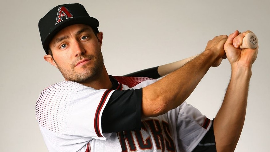 Feb 28, 2016; Scottsdale, AZ, USA; Arizona Diamondbacks outfielder A.J. Pollock poses for a portrait during photo day at Salt River Fields at Talking Stick. Mandatory Credit: Mark J. Rebilas-USA TODAY Sports