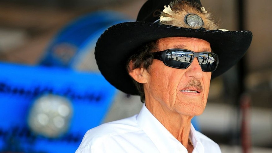 DOVER, DE - MAY 30: NASCAR Hall-of-Famer and team owner Richard Petty looks on from the garage area during practice for the NASCAR Sprint Cup Series FedEx 400 Benefiting Autism Speaks at Dover International Speedway on May 30, 2015 in Dover, Delaware. (Photo by Daniel Shirey/NASCAR via Getty Images)