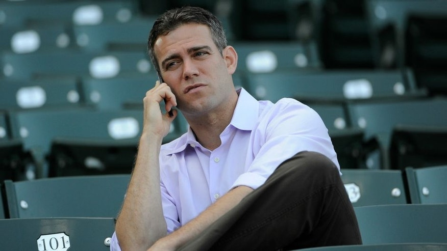 CHICAGO, IL - MAY 01: on May 1, 2013 at Wrigley Field in Chicago, Illinois. (Photo by David Banks/Getty Images) *** Local Caption ***,CHICAGO, IL - MAY 01: Theo Epstein President of Baseball Operations for the Chicago Cubs watches batting practice before the game between the Chicago Cubs and the San Diego Padres on May 1, 2013 at Wrigley Field in Chicago, Illinois. (Photo by David Banks/Getty Images)