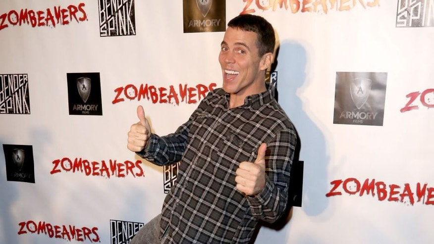 LOS ANGELES, CA - MARCH 18: Steve-O attends the premiere of Freestyle Releasing's new film 'Zombeavers' at The Theatre At The Ace Hotel on March 18, 2015 in Los Angeles, California. (Photo by Justin Baker/WireImage)