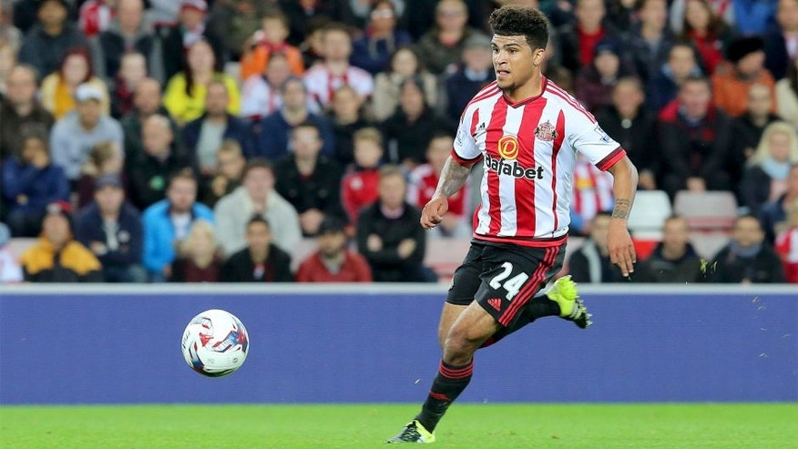 SUNDERLAND, UNITED KINGDOM - SEPTEMBER 22 : DeAndre Yedlin of Sunderland during the Capital One Cup Third Round match between Sunderland and Manchester City at the Stadium of Light on September 22, 2015 in Sunderland, England. (Photo by Ian Horrocks/Sunderland AFC via Getty Images)