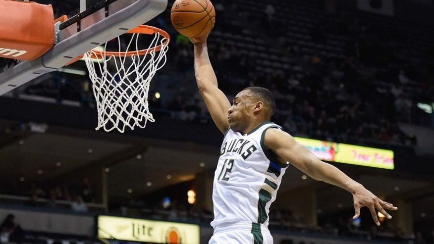 Monday, Feb. 29: Milwaukee Bucks forward Jabari Parker dunks in the fourth quarter against the Houston Rockets at BMO Harris Bradley Center in Milwaukee, Wis. Parker scored a career-high 36 points as the Bucks beat the Rockets 128-121.