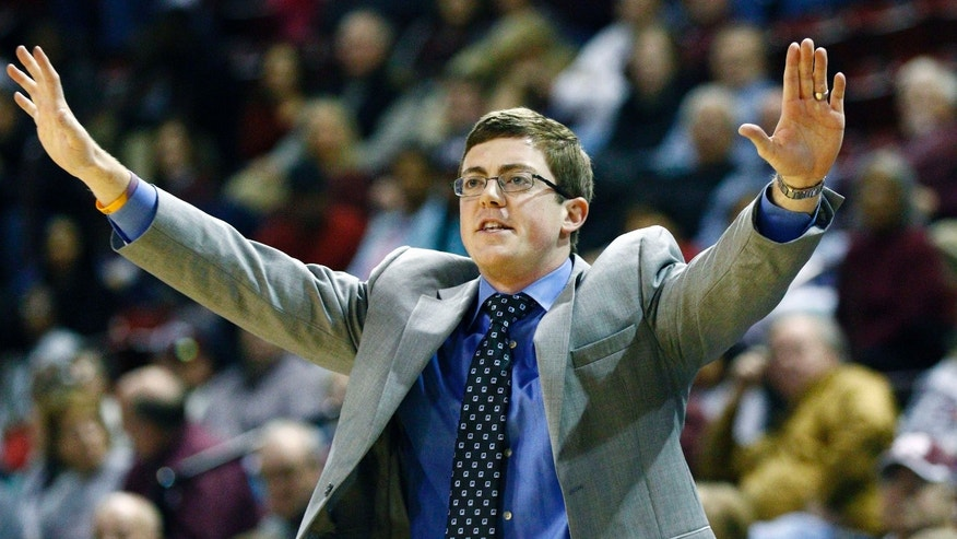 FILE - In this Dec. 11, 2014, file photo, Louisiana Tech women's basketball coach Tyler Summitt signals to his players during an NCAA college basketball game against Mississippi State in Starkville, Miss.