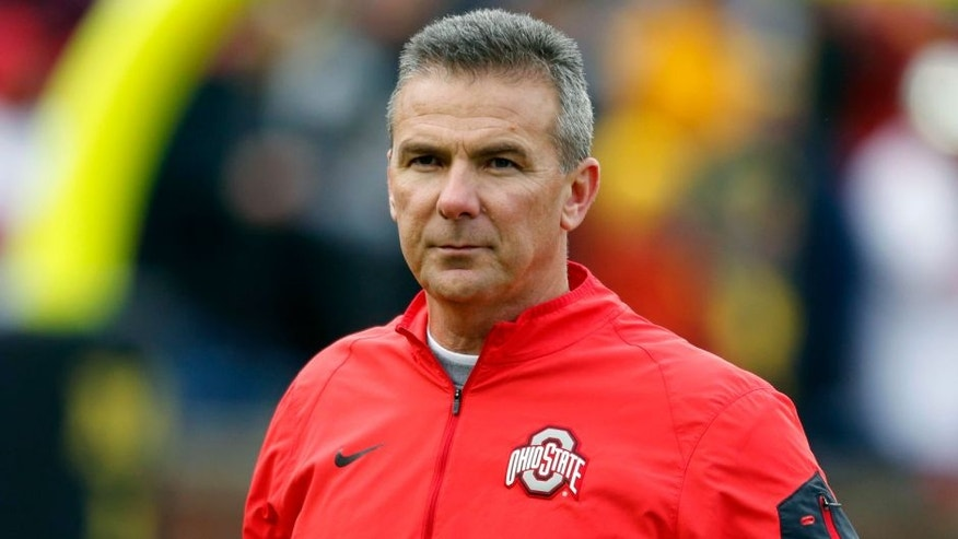 Nov 28, 2015; Ann Arbor, MI, USA; Ohio State Buckeyes head coach Urban Meyer prior to the game against the Michigan Wolverines at Michigan Stadium. Mandatory Credit: Rick Osentoski-USA TODAY Sports