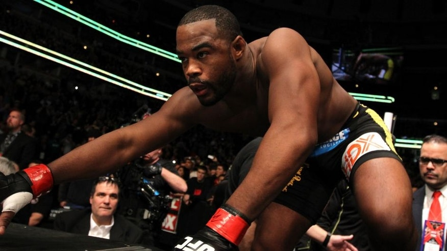 <<enter caption here>> during the UFC on FOX event at United Center on January 28, 2012 in Chicago, Illinois.