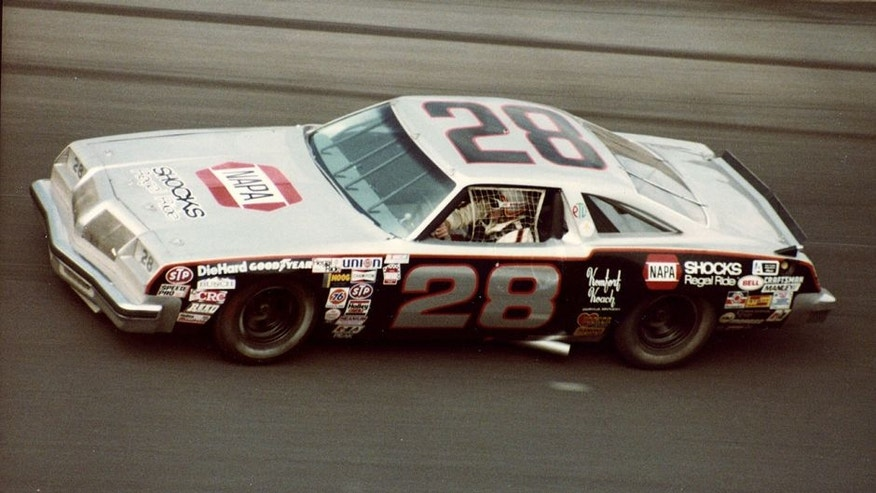DAYTONA BEACH, FL - FEBRUARY 17, 1980: Buddy Baker finally wins the Daytona 500 in his 18th start, driving the Harry Ranier Oldsmobile. (Photo by ISC Archives via Getty Images)