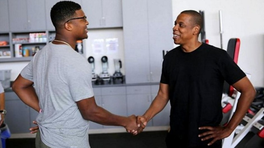 Jameis Winston better watch out or else Jay Z might steal his job.
