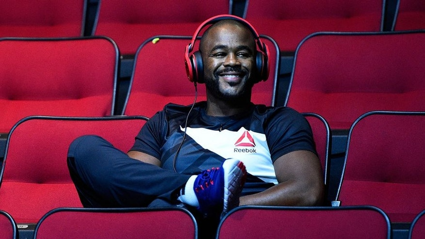 HOUSTON, TX - OCTOBER 02: Rashad Evans waits backstage during the UFC 192 weigh-in at the Toyota Center on October 2, 2015 in Houston, Texas. (Photo by Jeff Bottari/Zuffa LLC/Zuffa LLC via Getty Images)