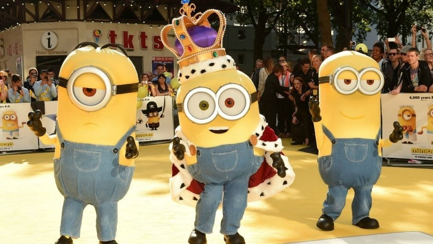 "LONDON, ENGLAND - JUNE 11: Minions attend the World Premiere of ""Minions"" at Odeon Leicester Square on June 11, 2015 in London, England. (Photo by Karwai Tang/WireImage)"