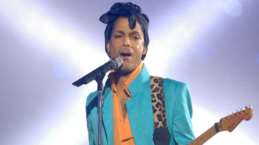 Prince during Super Bowl XLI - Indianapolis Colts vs Chicago Bears - Half Time Show at Dolphins Stadium in Miami, Florida, United States. (Photo by Jeff Kravitz/FilmMagic, Inc)