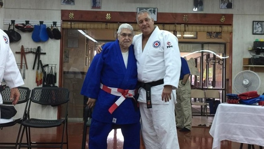 Ricardo Valdez (left) and Jorge R Delgado (right) at Jyoshinkan Dojo in Pembroke Pines, FL.