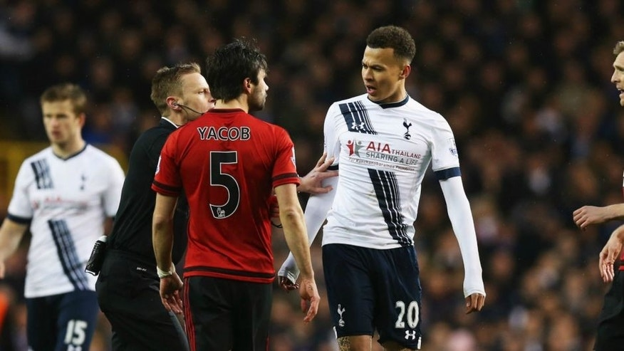 <enter caption here> during the Barclays Premier League match between Tottenham Hotspur and West Bromwich Albion at White Hart Lane on April 25, 2016 in London, England.
