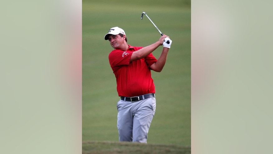 Brian Stuard hits off the 18th fairway during the second round of the PGA Zurich Classic golf tournament at TPC Louisiana in Avondale, La., Friday, April 29, 2016. (AP Photo/Gerald Herbert)