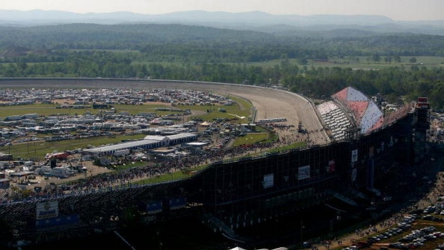 TALLADEGA, AL - MAY 1: A general view of the racetrack is seen prior to the NASCAR Nextel Cup Series Aaron's 499 on May 1, 2005 at the Talladega Superspeedway in Talladega, Alabama. (Photo by Jamie Squire/Getty Images)