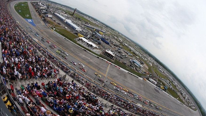 TALLADEGA, AL - MAY 01: A general view of the speedway during the NASCAR Sprint Cup Series GEICO 500 at Talladega Superspeedway on May 1, 2016 in Talladega, Alabama. (Photo by Sean Gardner/Getty Images)
