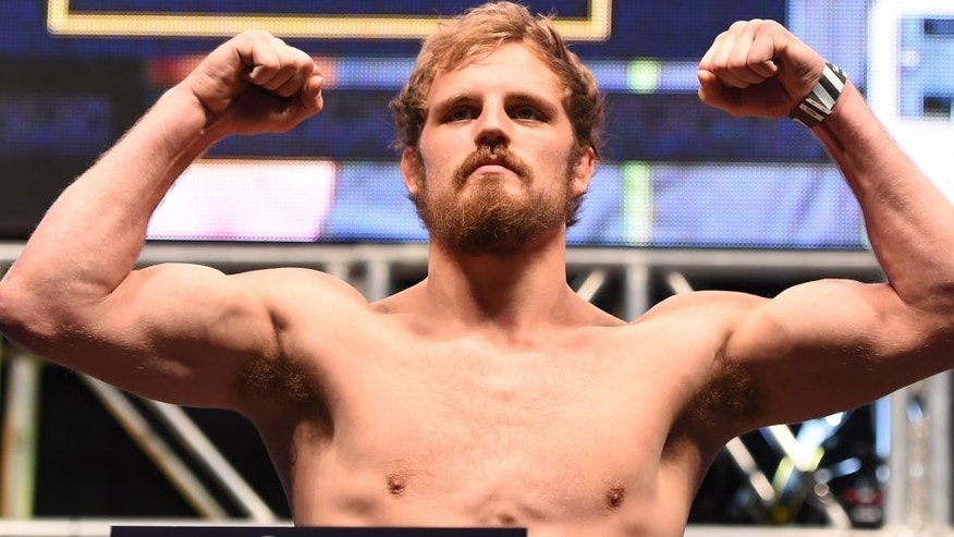 LAS VEGAS, NV - DECEMBER 11: Gunnar Nelson of Iceland weighs in during the UFC 194 weigh-in inside MGM Grand Garden Arena on December 10, 2015 in Las Vegas, Nevada. (Photo by Josh Hedges/Zuffa LLC/Zuffa LLC via Getty Images)