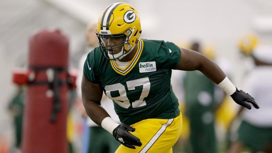 Friday, May 6: Green Bay Packers first-round pick Kenny Clark rus drills during rookie minicamp.
