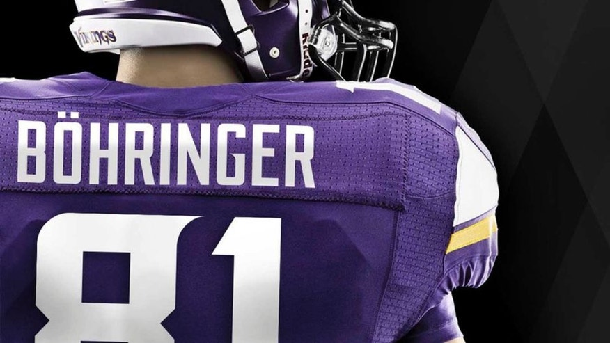 Boehringer received approval from the NFL to add the umlaut on his jersey.