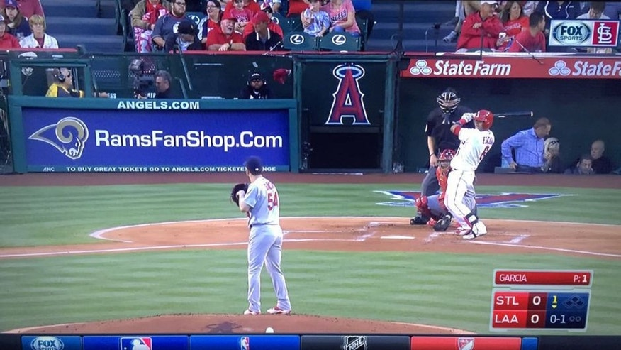 <p>St. Louis sports fans were not happy with an unfortunate advertisement during a Cardinals game against the Los Angeles Angels.</p>