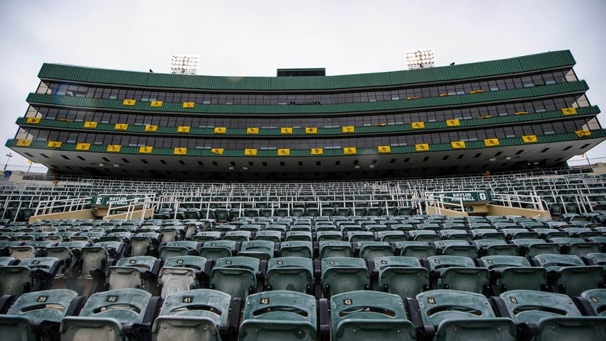 Dec 7, 2013; Waco, TX, USA; A view of the stands before the final game played at Floyd Casey Stadium between the Baylor Bears and the Texas Longhorns. Mandatory Credit: Jerome Miron-USA TODAY Sports