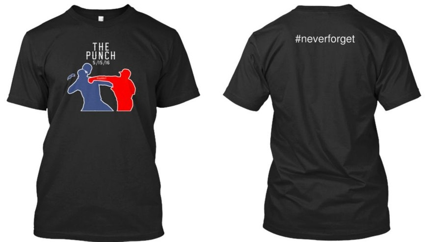 <p>It took less than 24 hours for a fan to make a shirt commemorating the Rougned Odor punch.</p>