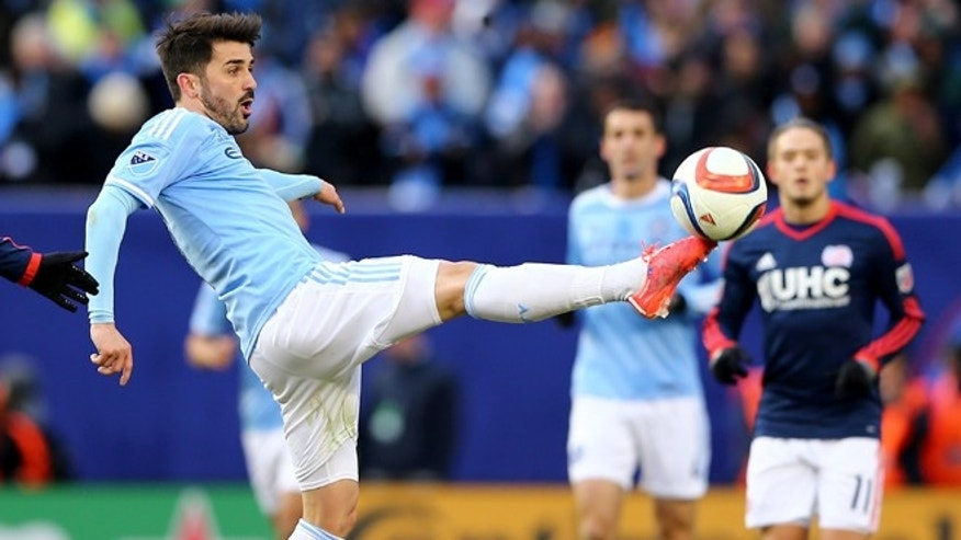 David Villa during the inaugural game of the New York City FC on March 15, 2015.