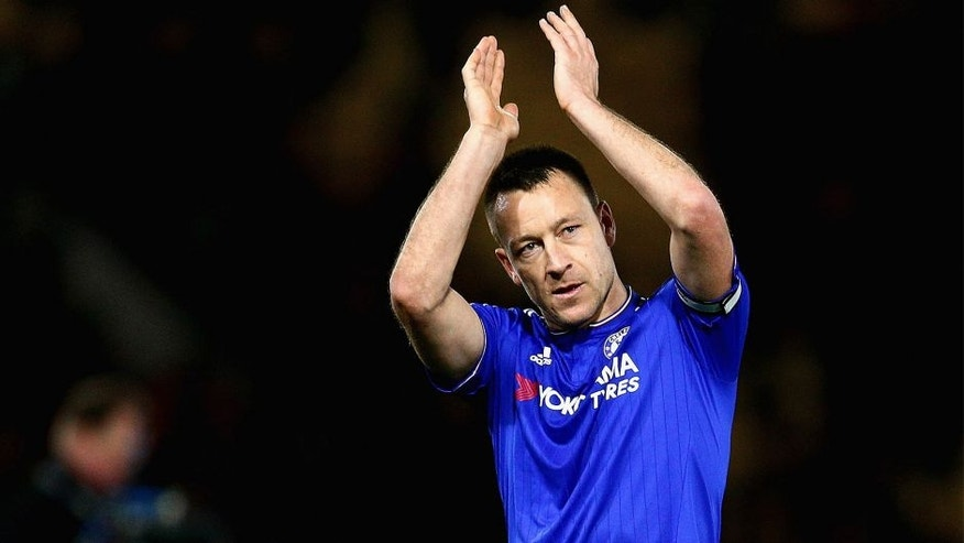 WATFORD, ENGLAND - FEBRUARY 03: John Terry of Chelsea in action during the Barclays Premier League match between Watford and Chelsea at Vicarage Road on February 3, 2016 in Watford, England. (Photo by Clive Mason/Getty Images)