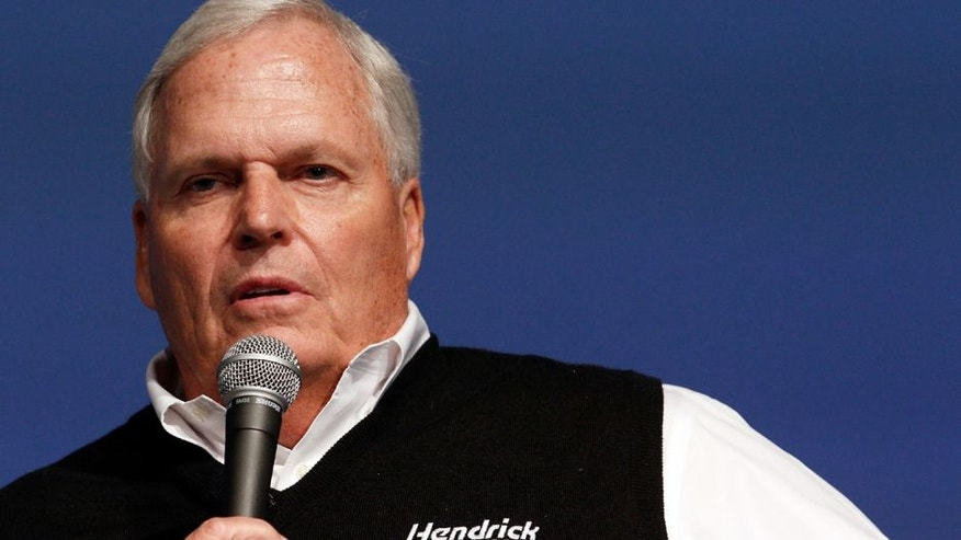 CHARLOTTE, NC - JANUARY 21: Team owner Rick Hendrick talks about his expectations during the NASCAR 2016 Charlotte Motor Speedway Media Tour on January 21, 2016 in Charlotte, North Carolina. (Photo by Bob Leverone/NASCAR via Getty Images)