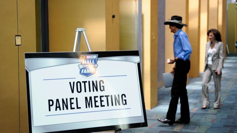 CHARLOTTE, NC - MAY 23: Hall of Famer Richard Petty (L) and voting panel member Looie McNally (R) attend Voting Day at the NASCAR Hall of Fame on May 23, 2012 in Charlotte, North Carolina. (Photo by John Harrelson/Getty Images for NASCAR)