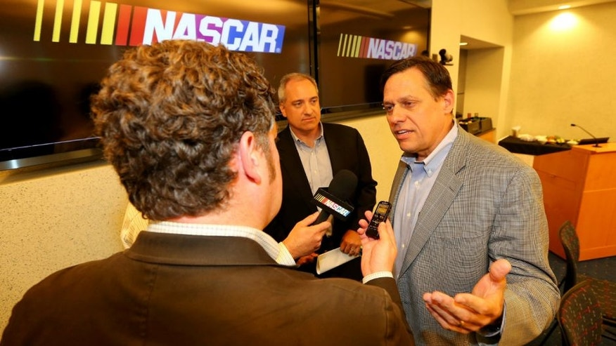CONCORD, NC - JULY 15: Gene Stefanyshyn, NASCAR Vice President, Innovation and Racing Development, speaks to the media at NASCAR Research & Development Center on July 15, 2013 in Concord, North Carolina. (Photo by Streeter Lecka/NASCAR via Getty Images)