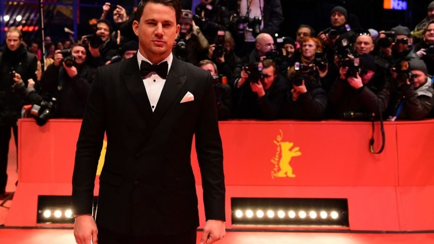 "US actor Channing Tatum poses for photographers as he arrives on the red carpet for the film ""Hail, Caesar!"" screening as opening film of the 66th Berlinale Film Festival in Berlin on February 11, 2016. Eighteen pictures will vie for the Golden Bear top prize at the event which runs from February 11 to 21, 2016. / AFP / John MACDOUGALL (Photo credit should read JOHN MACDOUGALL/AFP/Getty Images)"