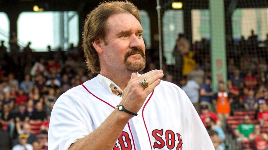 BOSTON, MA - MAY 25: Former Boston Red Sox player Wade Boggs is introduced during a 1986 20-year team reunion before a game between the Boston Red Sox and the Colorado Rockies on May 25, 2016 at Fenway Park in Boston, Massachusetts. (Photo by Billie Weiss/Boston Red Sox/Getty Images)