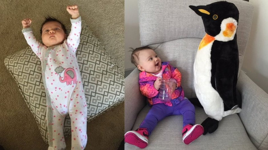 Nick Bonino has been marking his daughter Maisie's growth along with his team's playoff progress.