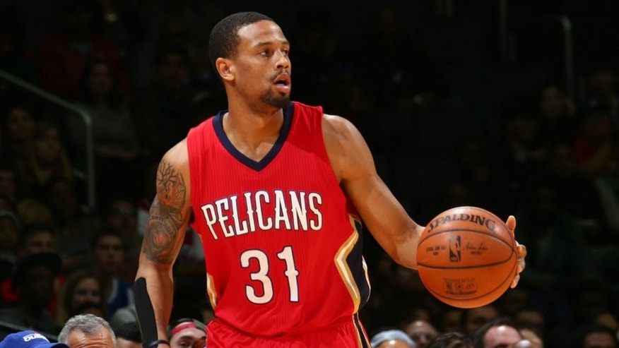 WASHINGTON, DC -  FEBRUARY 23: Bryce Dejean-Jones #31 of the New Orleans Pelicans handles the ball against the Washington Wizards on February 23, 2016 at Verizon Center in Washington, DC. NOTE TO USER: User expressly acknowledges and agrees that, by downloading and or using this Photograph, user is consenting to the terms and conditions of the Getty Images License Agreement. Mandatory Copyright Notice: Copyright 2016 NBAE (Photo by Ned Dishman/NBAE via Getty Images)