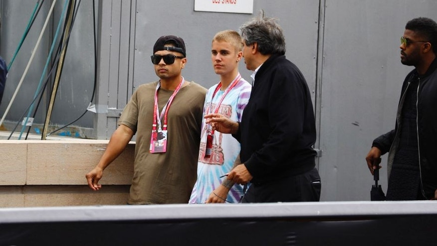Monte Carlo, Monaco. Sunday 29 May 2016. Justin Bieber at the Monaco Grand Prix. World Copyright: Steven Tee/LAT Photographic ref: Digital Image _H7I1967