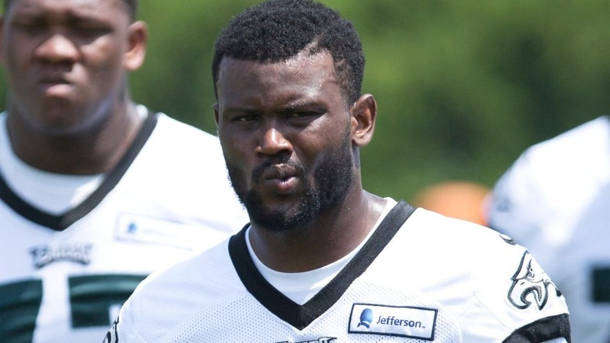 May 28, 2015; Philadelphia, PA, USA; Philadelphia Eagles cornerback Walter Thurmond (26) during OTA's at the NovaCare Complex. Mandatory Credit: Bill Streicher-USA TODAY Sports