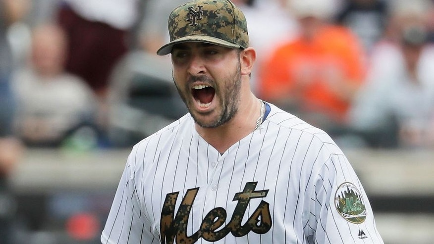 NEW YORK, NY - MAY 30: Matt Harvey #33 of the New York Mets celebrates after retiring the side in the seventh inning against the Chicago White Sox during their game at Citi Field on May 30, 2016 in New York City. (Photo by Al Bello/Getty Images)