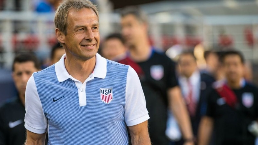 SANTA CLARA, CA - JUNE 3: Jurgen Klinsmann head coach of the United States during the Copa America Centenario Group A match between the United States and Columbia at Levi's Stadium on June 3, 2016 in Santa Clara, California. Colombia won the match 2-0 (Photo by Shaun Clark/Getty Images) *** Local Caption *** Jurgen Klinsmann