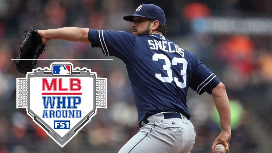 SAN FRANCISCO, CA - MAY 25: James Shields #33 of the San Diego Padres pitches against the San Francisco Giants during the game at AT&T Park on Wednesday, May 25, 2016 in San Francisco, California. (Photo by Brad Mangin/MLB Photos via Getty Images)