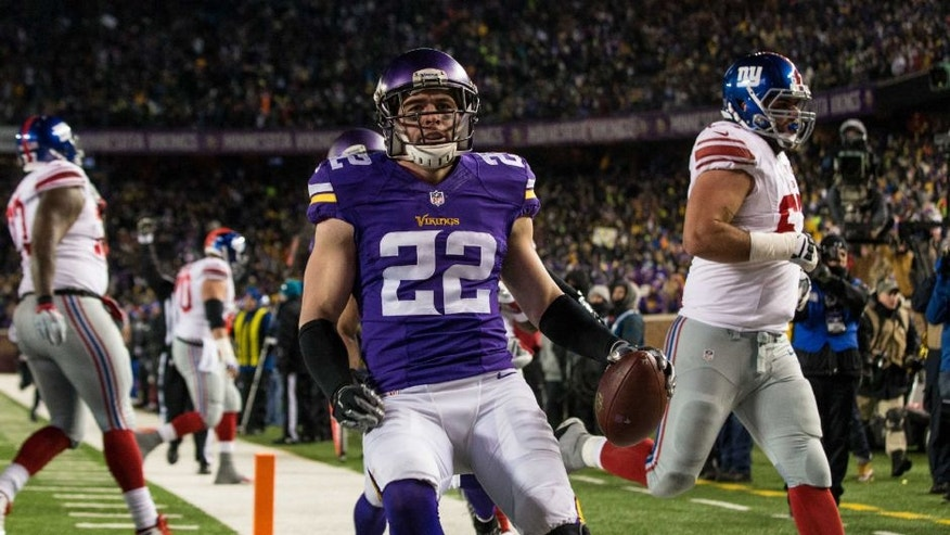 Minnesota Vikings safety Harrison Smith against the New York Giants at TCF Bank Stadium.