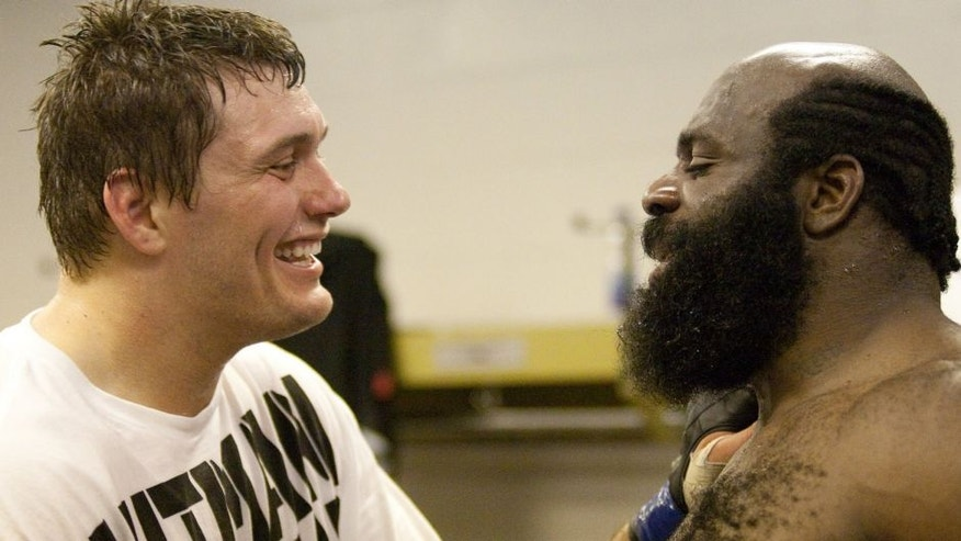 MONTREAL - MAY 8: Matt Mitrione and Kimbo Slice during UFC 113 at Bell Centre on May 8, 2010 in Montreal, Quebec, Canada. (Photo by Josh Hedges/Zuffa LLC via Getty Images)